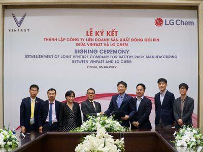 LG Chem Hợp Tác Với Vinfast Sản Xuất Pin Lithium-Ion Tại Việt Nam